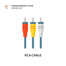 Rca Cable Vector Icon. Flat St...