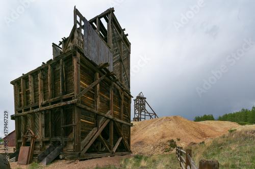 Canvas Print Abandoned Gold Mine in Cripple Creek, Colorado