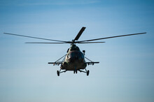 Military Helicopter Flying Dur...