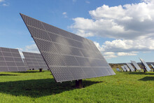 Solar Power Plant Panels On A ...