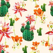 Cactus Floral Print