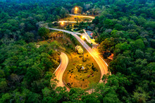 Aerial View From Drone Of Khon...