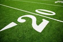 The 20 Yard Line On A Football...