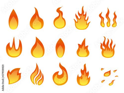 火 炎のアイコンマーク素材集 Wallpaper Mural