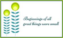 Inspiring Quote. Beginnings Of...