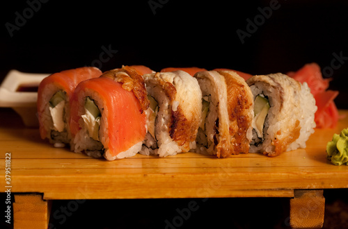 Fototapeta japan traditional food - roll obraz