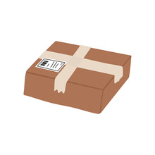 Brown Cardboard Box. Package D...