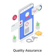 Quality Assurance Illustration Design In Modern Vector