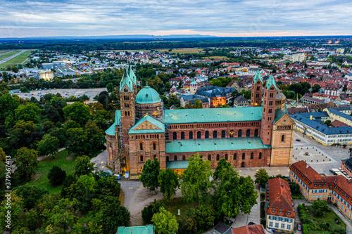 Speyer aus der Luft Luftbild Speyrer Luft Dom zu Speyer Wallpaper Mural