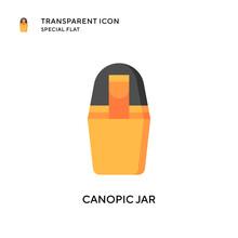 Canopic Jar Vector Icon. Flat Style Illustration. EPS 10 Vector.