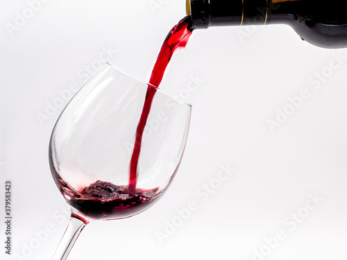 Serving glass of Red wine