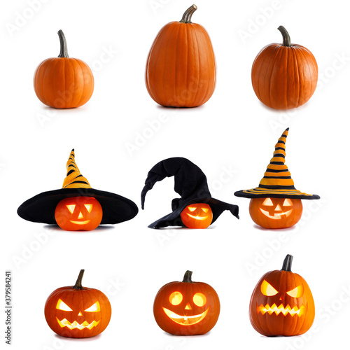 Collection of Halloween pumpkins