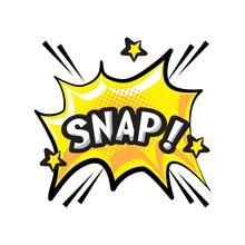 Pop Art Snap Explosion Bubble Detailed Style Icon Vector Design