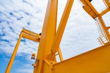 Bottom View Of Yellow Gantry C...