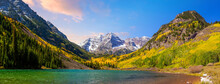 Landscape Photo Of Maroon Bell In Colorado USA