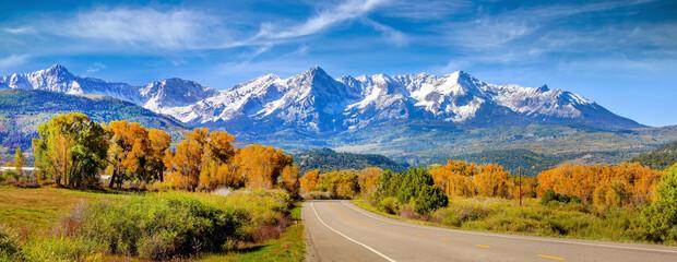 Landscape view of countryside  Colorado  fall season
