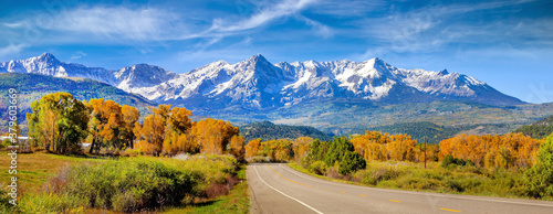 Landscape view of countryside  Colorado  fall season