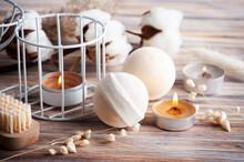 Vanilla Peach Aroma Bath Bombs
