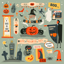 Halloween Night Party, Trick Or Treat October 31 Vector