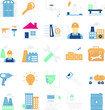 Industrial and Construction Isolated Vector icons set every single icon can be easily modified or edit