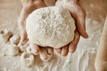 Hands Kneading Dough, Baker, T...