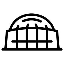 A Football Stadium Building, Moses Mabhida Stadium Icon