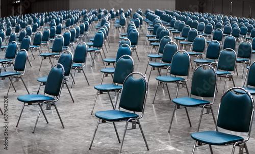 Fotografie, Obraz keep space seat in work shop room in social distancing
