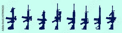 Fotomural set of gun cartoon icon design template with various models