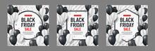 Set Of Black Friday Sale Backg...