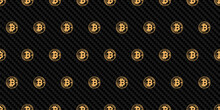 Bitcoin Logo On Carbon Fiber B...