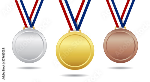 Fotografía Gold, bronze and silver medal