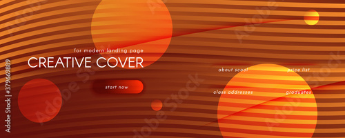 Obraz Vector Fluid Flow. Orange Dynamic Wallpaper. 3d  - fototapety do salonu