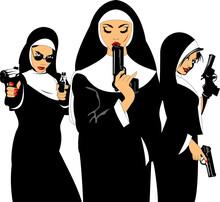 Three Nuns With Guns