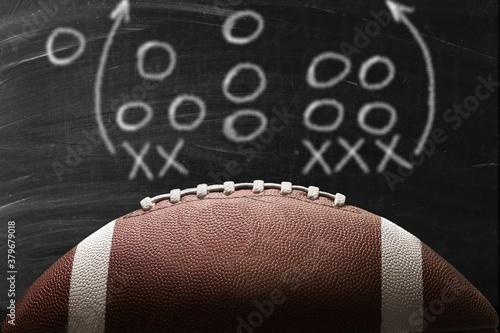 Fototapeta American leather football ball on background obraz