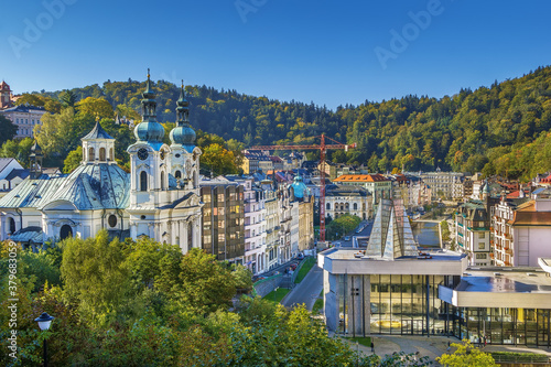 View of Karlovy Vary, Czech republic Canvas Print