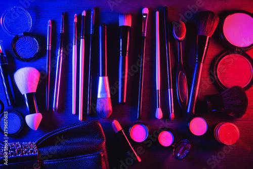 Fotografia, Obraz Makeup accessories concept background