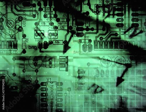 Electronic circuit Slika na platnu