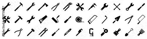 Obraz Tools icons set. Instruments signs collection. Tool simple icon. Vector illustration - fototapety do salonu