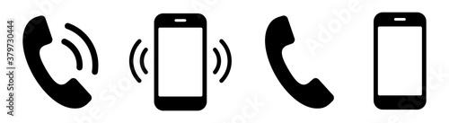 Foto Ringing phone simple icon set