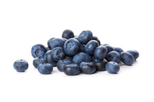 Heap Of Blueberries Isolated O...