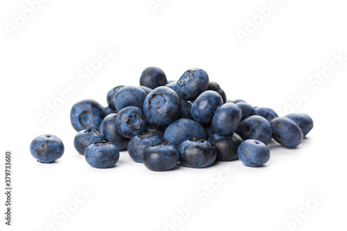 Fotografia heap of blueberries isolated on white background
