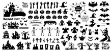 Set Of Silhouettes Of Hallowee...