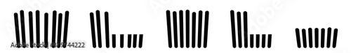 Grass Icon Black | Lawn Illustration | Mow Symbol | Mowing Meadow Logo | Cut Sig Fototapeta