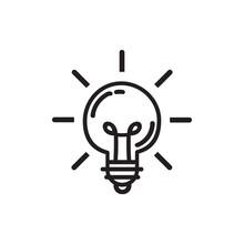 Light Bulb Line Icon Vector. I...