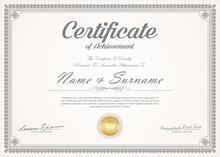Certificate Retro Vintage Temp...