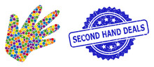 Rubber Second Hand Deals Seal And Colorful Collage Hand