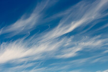 High White Wispy Cirrus Clouds...