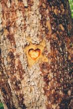 Heart Love Wood Engraving
