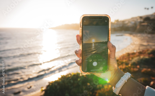Foto Beach Sunset Cellphone Photography | Capture the Moment
