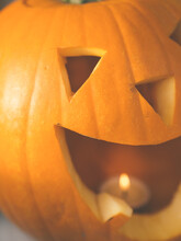 Scary Halloween Pumpkin Lantern